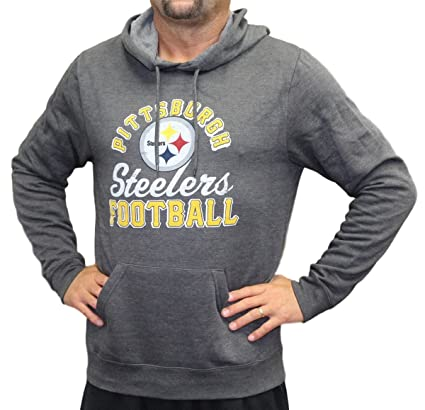 66954fa54 Image Unavailable. Image not available for. Color  Majestic Pittsburgh  Steelers NFL Kick Return 3 Men s Charcoal Hooded Sweatshirt