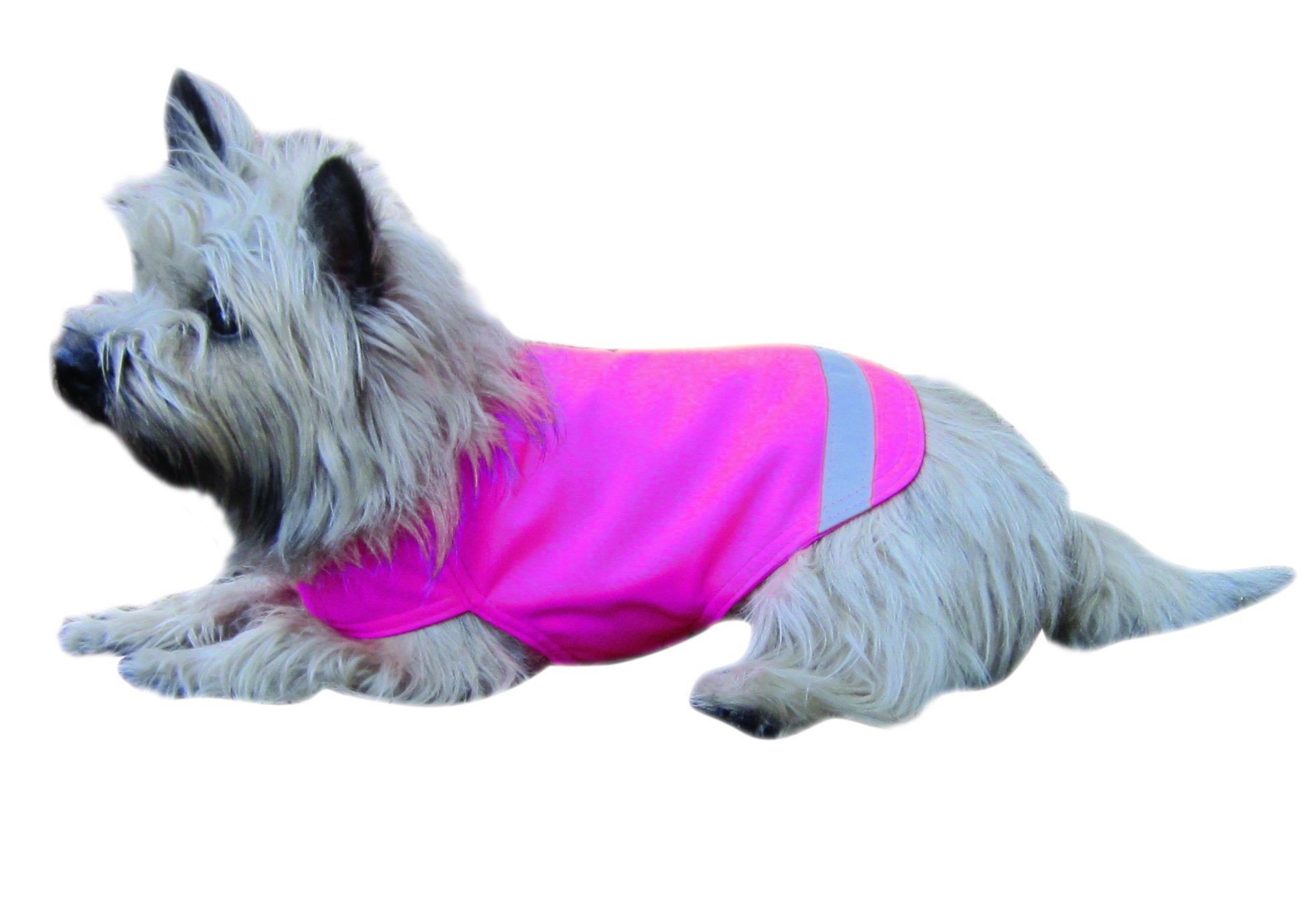 Dog Not Gone No Fly Zone Mini Safety Pet Vest, Medium, Pink
