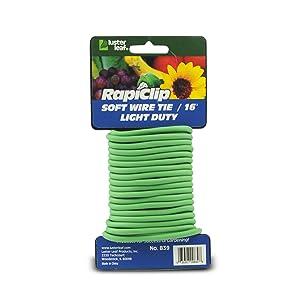 Luster Leaf 16025 Rapiclip Light Duty Soft Wire Tie 839, 16', Green