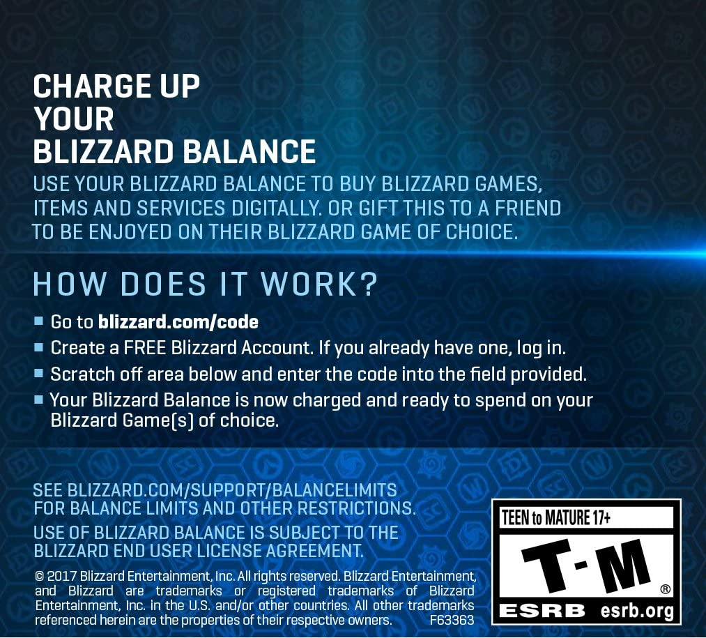 Amazon Com 20 Battle Net Store Gift Card Balance Blizzard