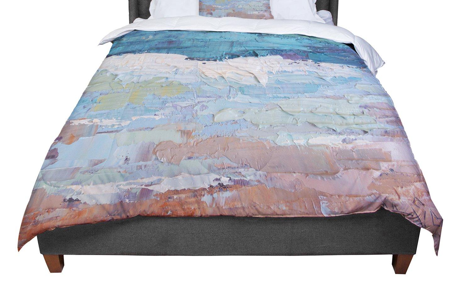 KESS InHouse Carol Schiff 'Surf Dreams' Blue Painting King / Cal King Comforter, 104' X 88'