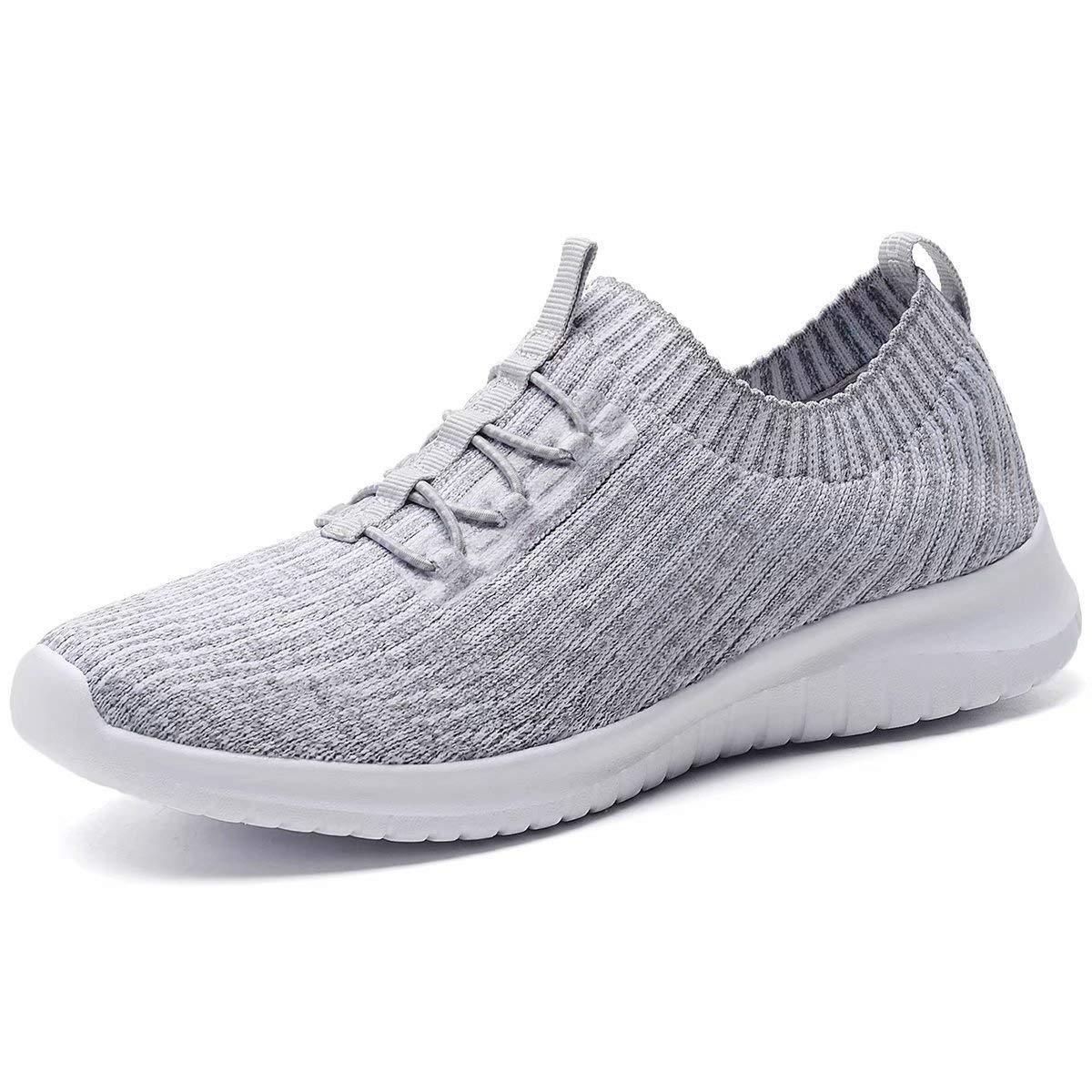 konhill Women s Comfortable Walking Shoes – Tennis Athletic Casual Slip on Sneakers