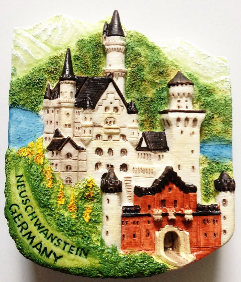 Neuschwanstein Castle GERMANY Resin 3D fridge Refrigerator Thai Magnet Hand Made Craft.