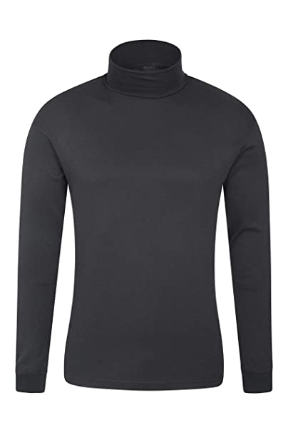 full range of specifications top brands arrives Mountain Warehouse Meribel Mens Thermal Baselayer Top - Combed Cotton  Sweater, Roll Neck Jumper, Breathable, Quick Drying & Fitted Sleeves - for  ...