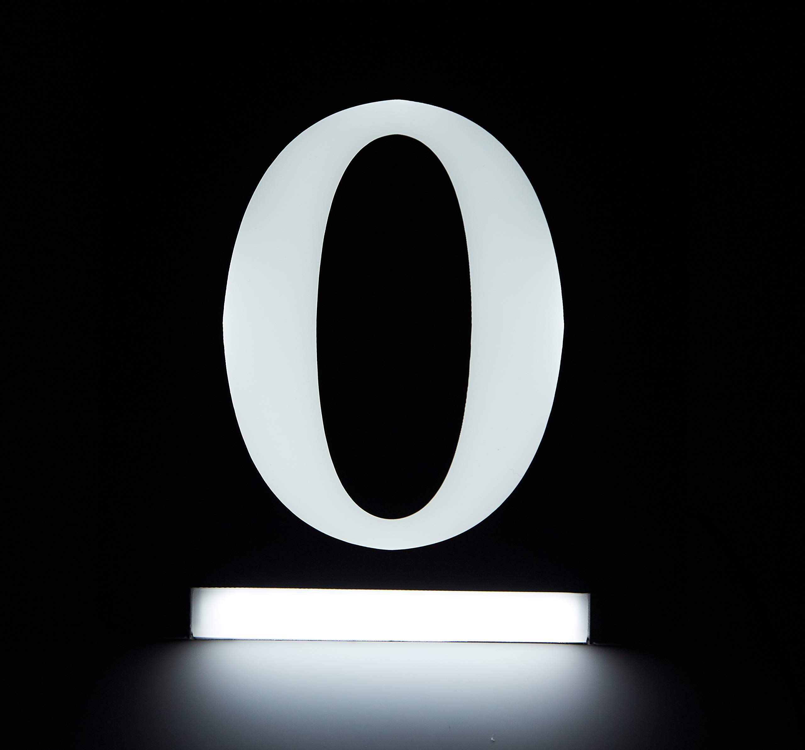 HOMIDEA Backlit Led House Numbers. Light Up House Numbers. Personalized Lighted Address Signs for Houses, Illuminated House Numbers, Address Light Numbers for Houses - Number 0