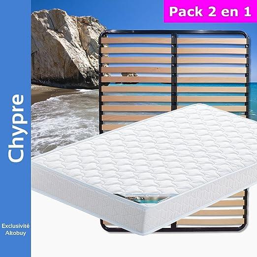 AltoBuy Chipre – Pack Colchón + somier 120 x 190: Amazon.es: Hogar