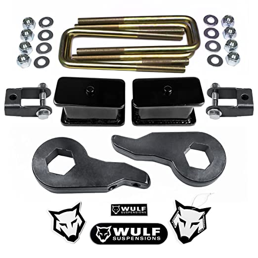 WULF 1999-2007 Chevy Silverado GMC Sierra 1500 3 Front 3 Rear Leveling Lift Kit w//Pro Comp Shocks 4WD 4X4 Suspensions