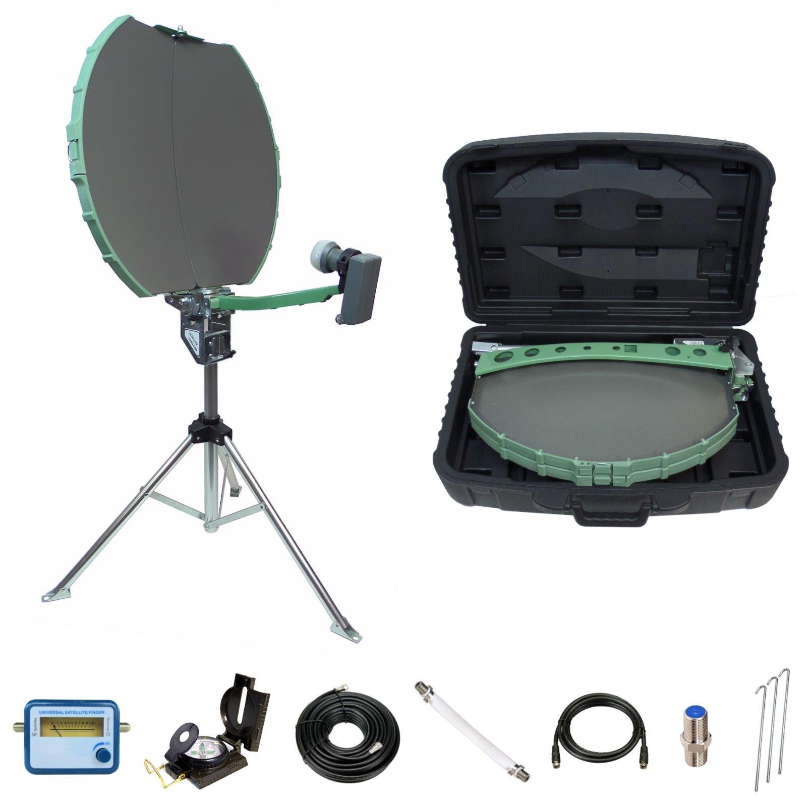 Directv Folding Portable Satellite Dish Rv Tripod Kit - Refurbished