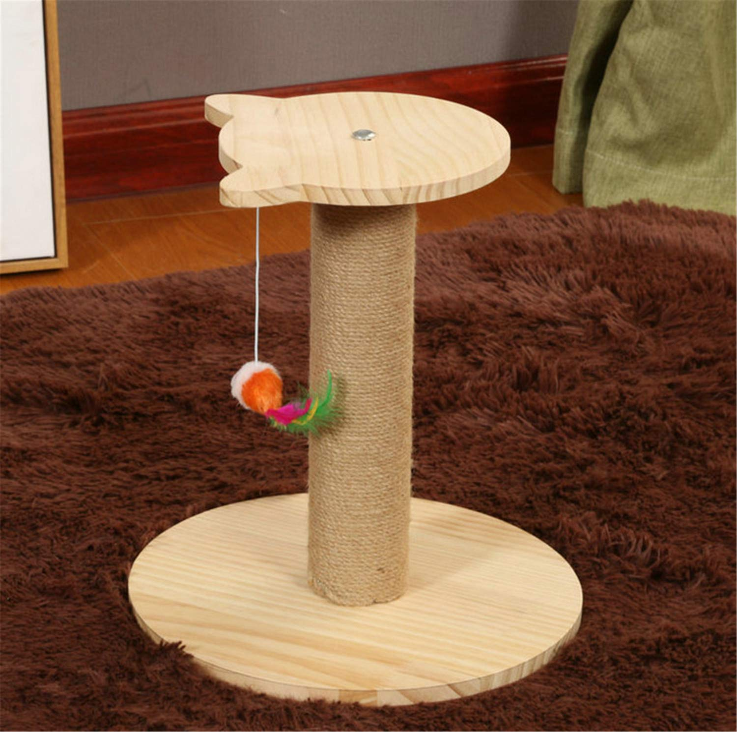 B UNIQUE-F Climbing Tree Stable Cat Tree Game Play Selection Solid Wood Natural Sisal Cat Claw Stickers Predection Furniture