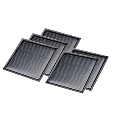 uxcell 5Pcs 1.5V Poly Mini Solar Cell Panel Module DIY for Light Toys Charger 52mm x 52mm: Automotive