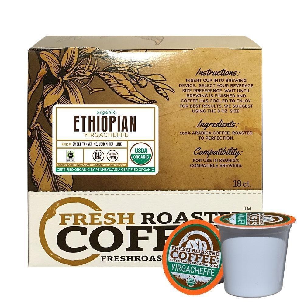 Fresh Roasted Coffee LLC, Organic Mexican Chiapas Coffee Pods