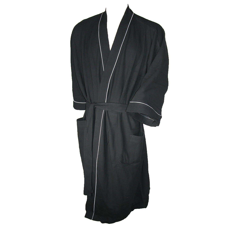 Majestic International Men s Big   Tall Cotton Waffle Knit Kimono Robe 78412a27d