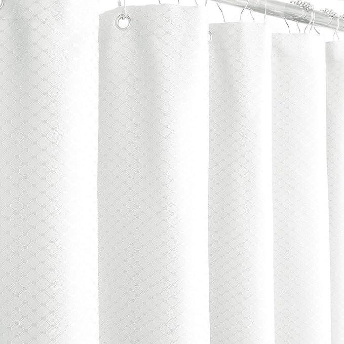 Amazon.com: Eforgift tejido reticular cortina de ducha (tela ...