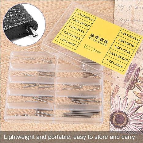 Yuyte 50 StÜcke Uhr Schraube Rohr Stange Uhr Armband Reparatur Werkzeug Zubehör Schraube Küche Haushalt