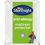 Silentnight Anti-Allergy Mattress Protector with Straps, Microfibre, Double