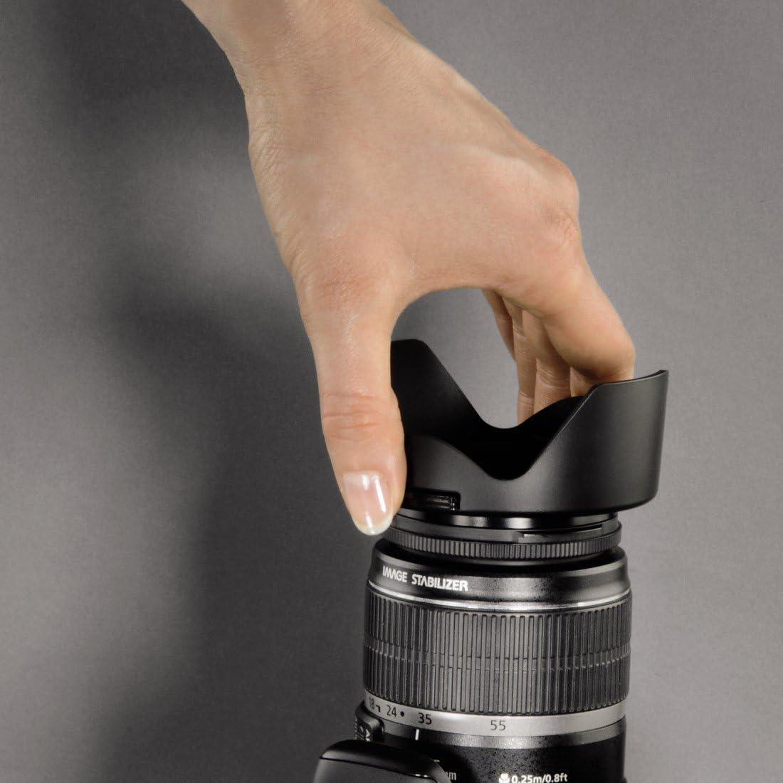 Hama/Pare-soleil pour objectif avec bouchon 52 mm
