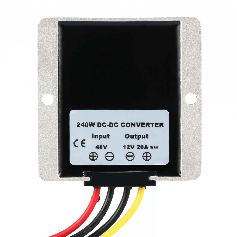 Yipbowpt Club Car High Power Voltage Reducer Buck Converter Regulator For Cart Led Strip Light 24v Step Down To 12v 20a 240w Waterproof