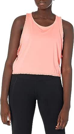 Core 10 Women's Icon Series 'Ruffle' Cropped Sleeveless Yoga Tank