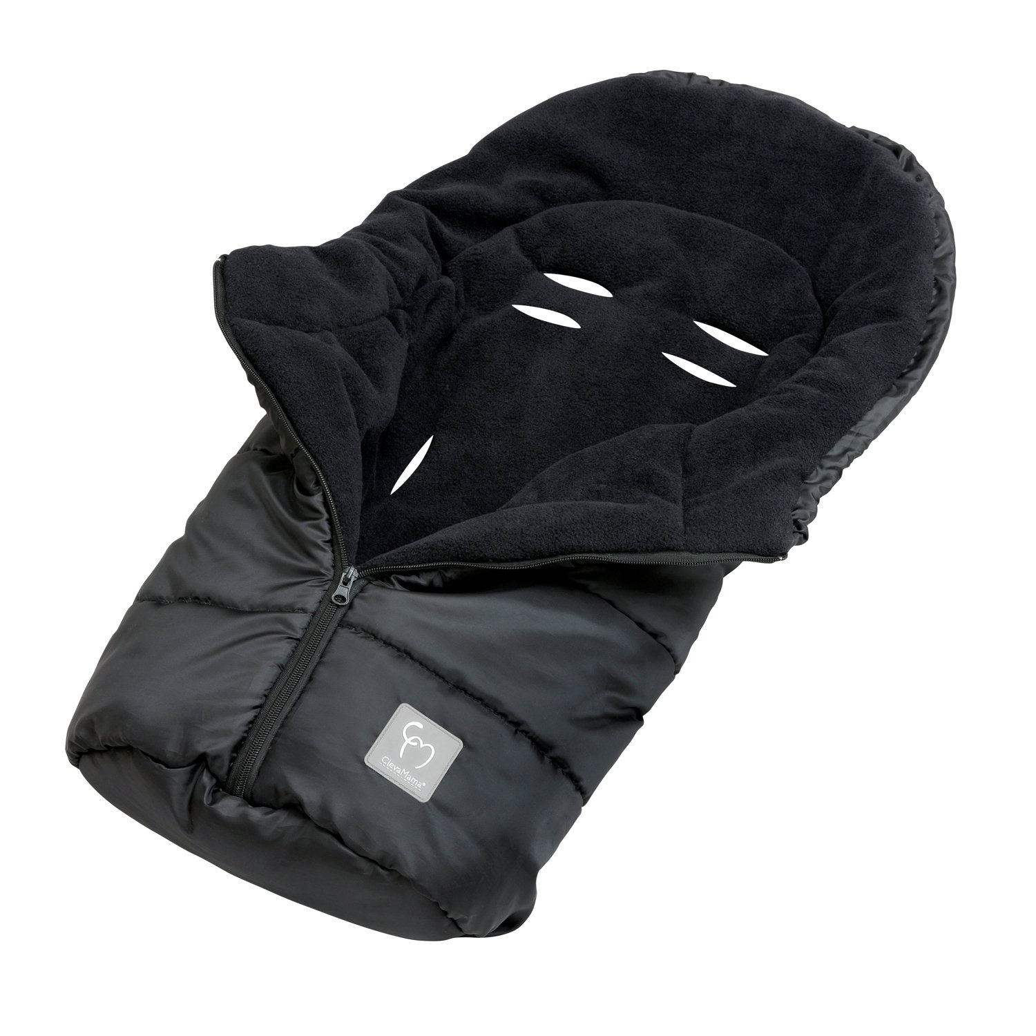 Clevamama Universal Baby Footmuff for Car Seat, Black