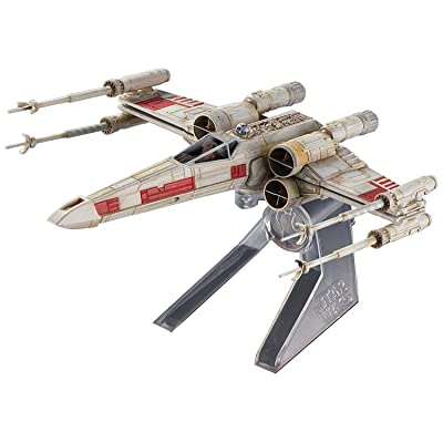 New DIECAST Toys CAR HOT Wheels Elite X-Wing Fighter RED 5 Starship - Star Wars Episode IV: A New Hope CMC91: Toys & Games