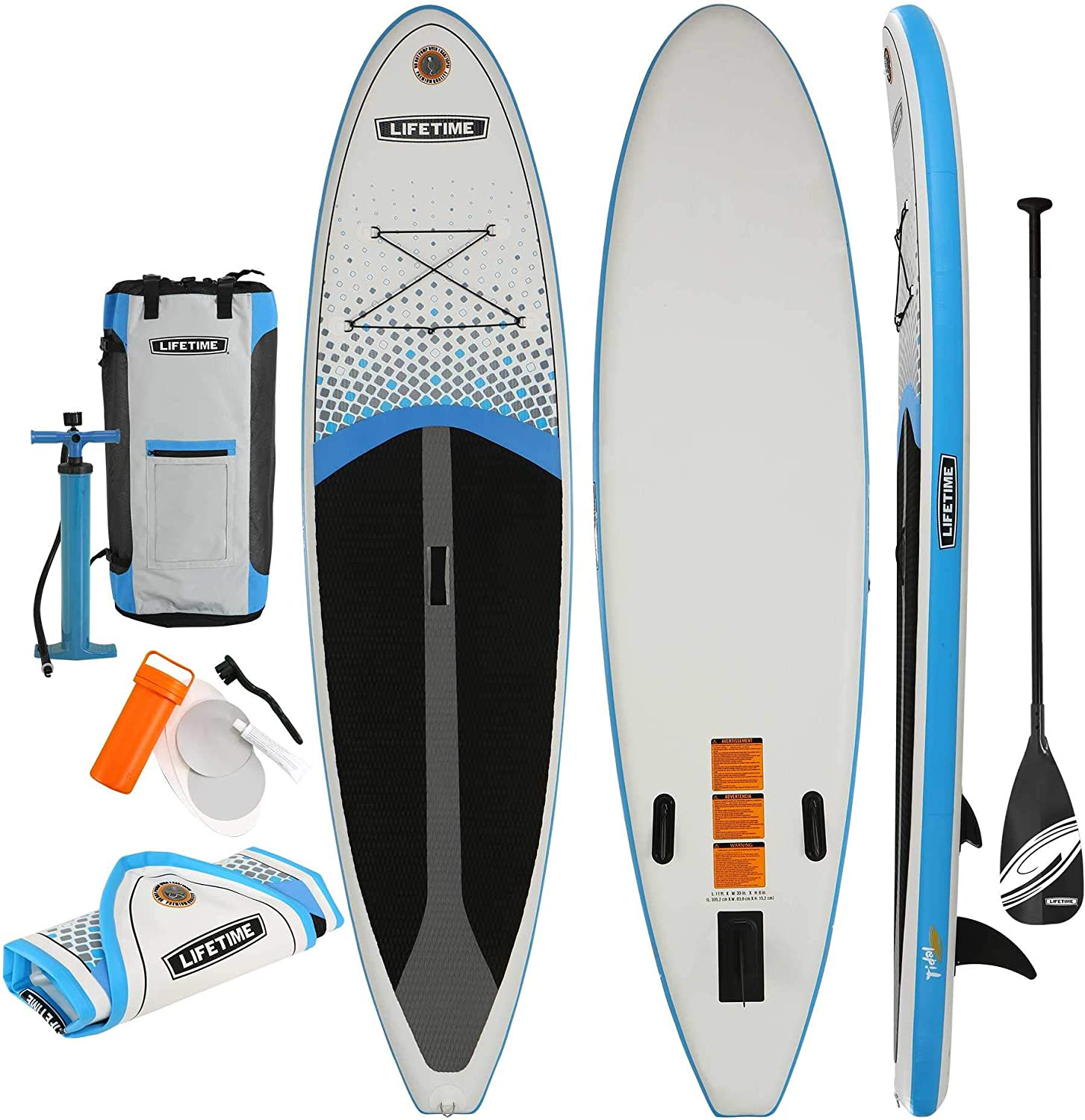 Lifetime Tidal 110 Inflatable Stand Up Paddle Board Paddle Included , 11 , White