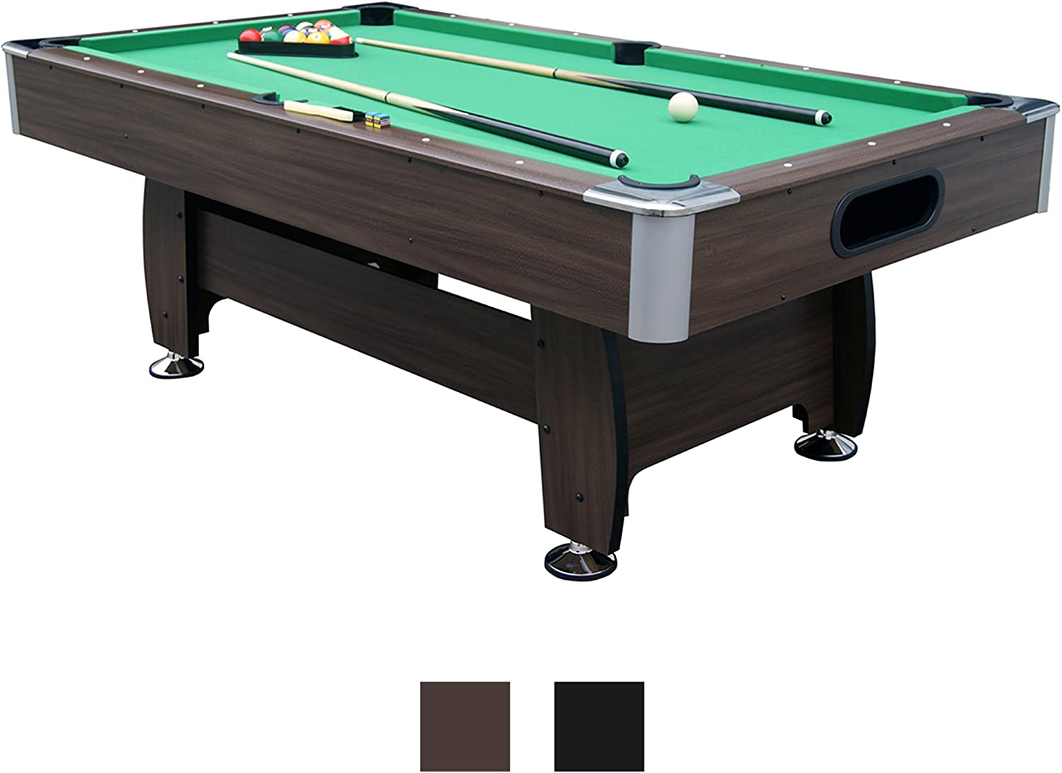 Jalano Mesa de Billar 7 ft Snooker en 2 Colores Juego Pool Billar ...