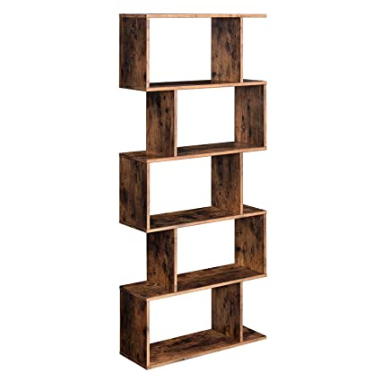 Surprising Vasagle Wooden Bookcase Display Shelf And Room Divider Freestanding Decorative Storage Shelving 5 Tier Bookshelf Rustic Brown Ulbc62Bx Home Interior And Landscaping Oversignezvosmurscom