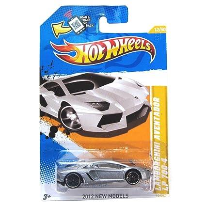 Amazon Com Hot Wheels Silver Lamborghini Aventador Lp 700 4 2012