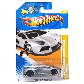 Amazon Com Hot Wheels Silver Lamborghini Aventador Lp