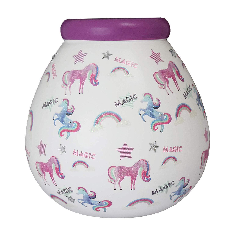 Magic Unicorn Pattern Pots of Dreams Money Pot Save Up /& Smash Money Box Gift