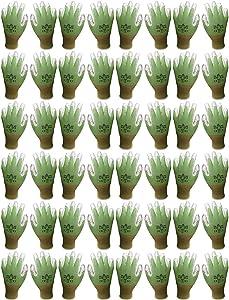 Atlas 370 Nitrile Palm Seamless Knit Gardening Gloves Green Medium, 24-Pair