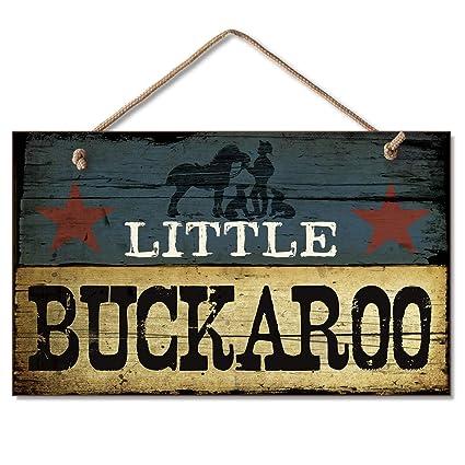 amazon com new little buckaroo sign cowboy plaque boy s room decor