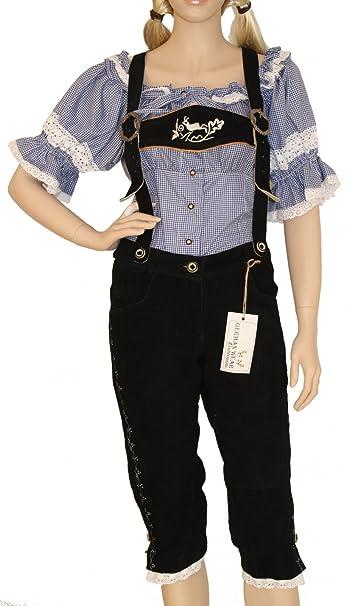 Pantaloni da donna in pelle noorsk al ginocchio pantaloni da donna in pelle pantaloni  con bretelle  Amazon.it  Abbigliamento d37fb103d1a3