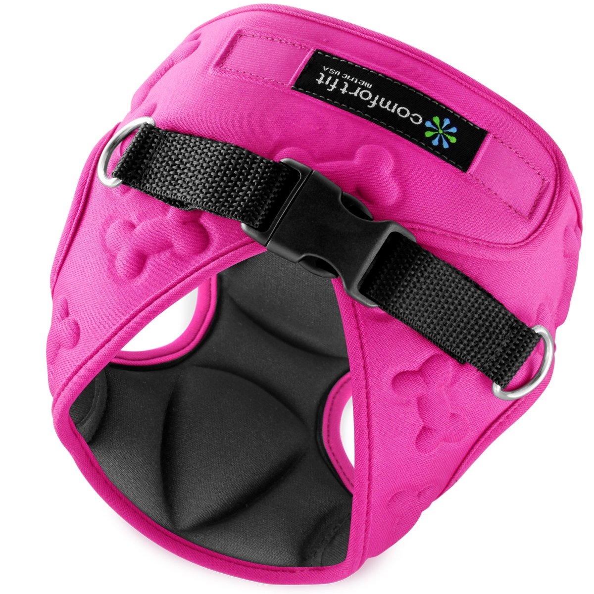 Easy to Put on Take Off Small Dog Harnesses Our Small Dog Harness Vest has Padded Interior Exterior Cushioning Ensuring Your Dog is Snug Comfortable ! (XX-Small, Pink)