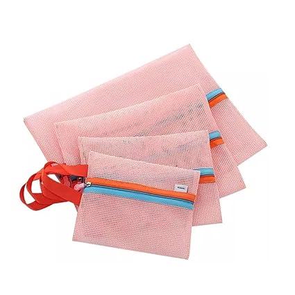 Bao core Pack de 4 viajes equipaje malla lavado bolsa neceser lavado suministros toalla bolsa de