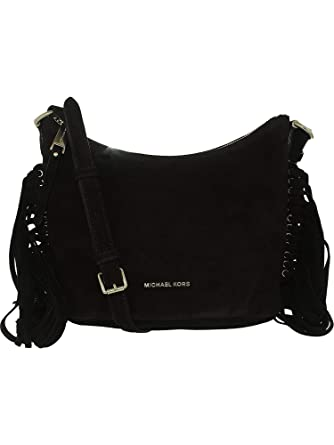 284e31eca27f Amazon.com  MICHAEL Michael Kors Womens Billy Suede Crossbody Handbag Black  Medium  Michael Kors  Watches