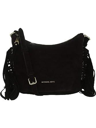 e9caa83080c77d Amazon.com: MICHAEL Michael Kors Womens Billy Suede Crossbody Handbag Black  Medium: Michael Kors: Watches