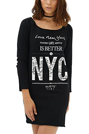 1174a7e4f3b85 trueprodigy Casual Womens Clothes Funny and Cool Designer Sweatshirt Sweater  for Ladies with Design Crew Neck Slim Fit Long Sleeve Sale  Amazon.co.uk   ...