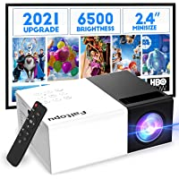 Mini Projector, Faltopu 2021 Upgraded Technology, Portable Projector for Kids Gift, Outdoor Movie Projector, Pocket…