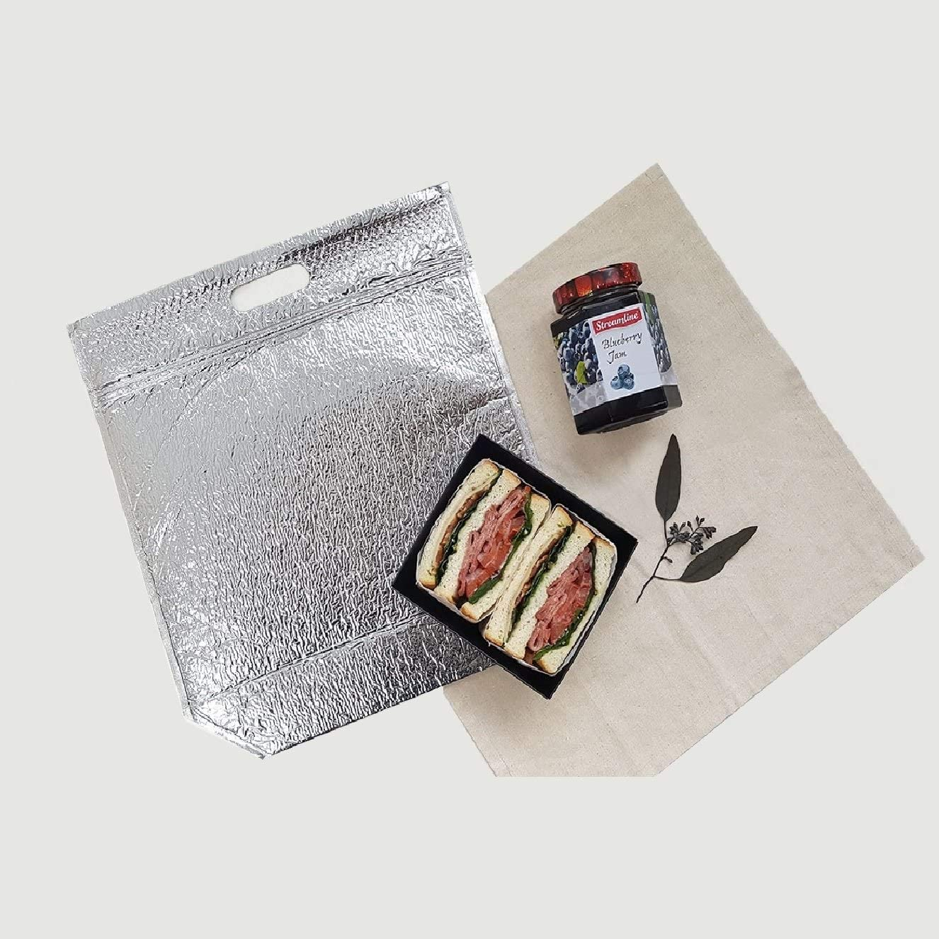 3, Small - 6 x 10 Inch Insulated Easy Zip Lock Resealable Aluminum Sandwich Bag Reusable Thermal Lunch Snack Bento Picnic Hot /& Cold Pouch