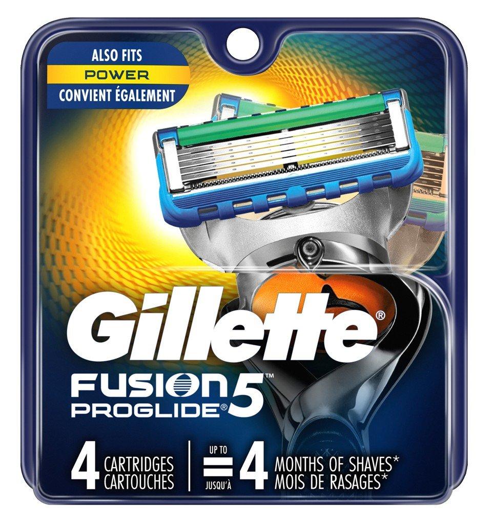 Gillette Mens Fusion 5 Proglide Cartridge 4 Count (6 Pack)