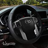 Valleycomfy Microfiber Leather Steering Wheel Cover Large-Size for F150 F250 F350 Ram 4Runner Tacoma Tundra Range Rover Model