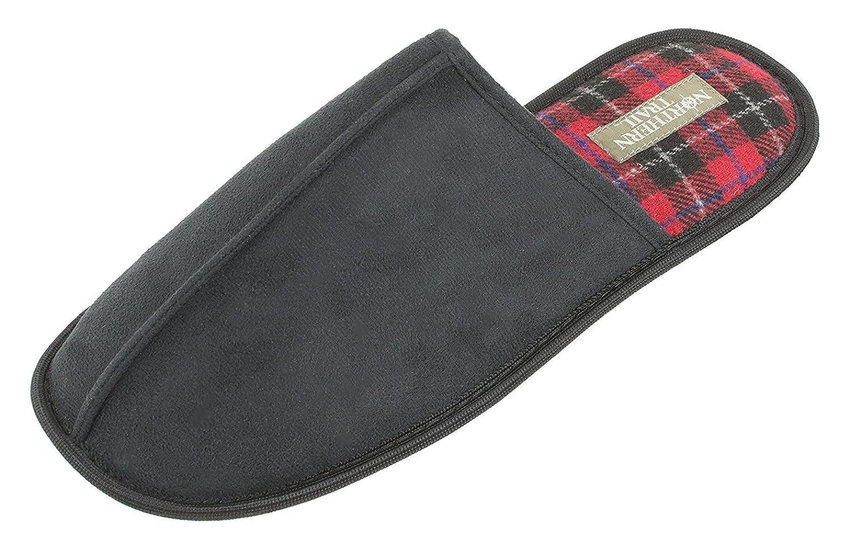 da5718fc8c2 Cozeez Men's Slippers, Cozy Scuff Mule, Easy Slip on Slip Off Clog,Black  Red Plaid, Men's Size 10 to 13