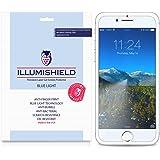 iPhone 8 Screen Protector [2-Pack], iLLumiShield Blue Light Screen Protector for iPhone 8 HD Shield with Anti-Bubble & Anti-Fingerprint UV-Filter Film