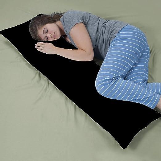 Amazon Com Crescent 2 Pack Black Body Pillow Cover Pillowcases