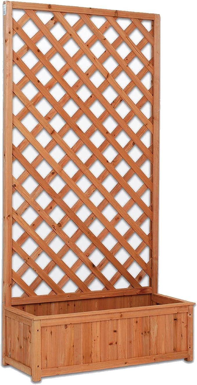 EV Panel de Madera Rectangular con macetero A Red de Exterior jardín Vallas separadores 90 x 180 cm: Amazon.es: Jardín