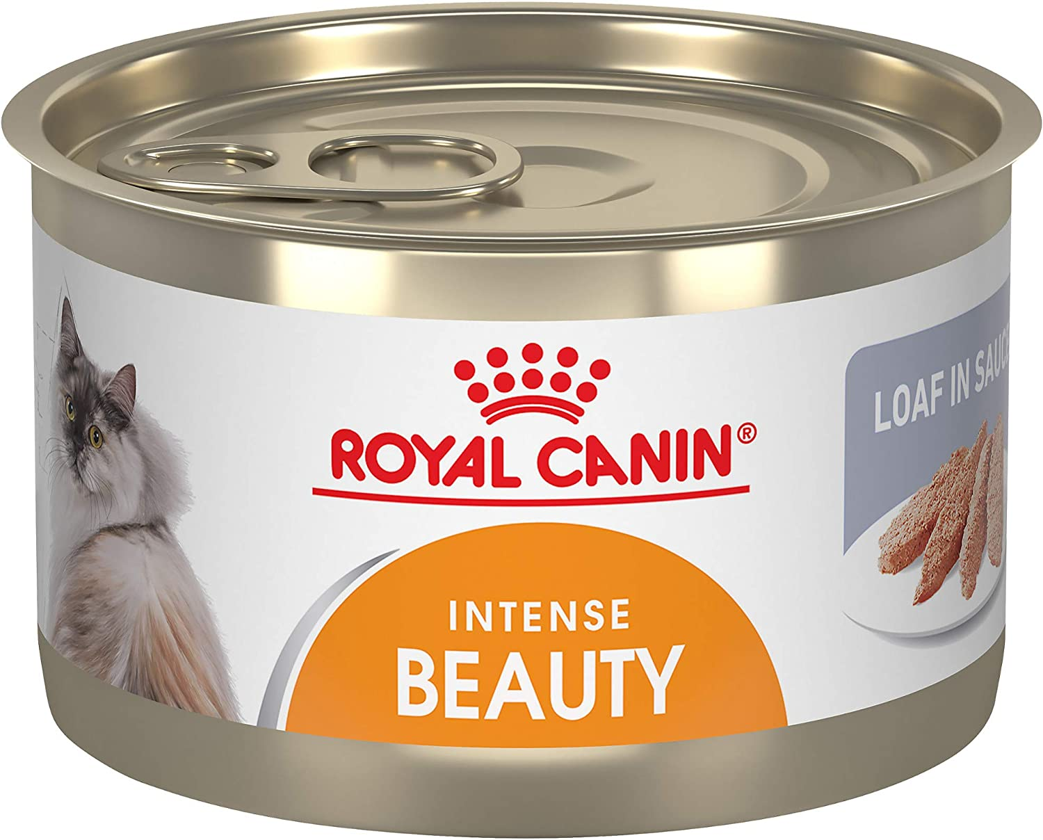 Royal Canin Feline Care Nutrition Intense Beauty Loaf in Sauce Canned Cat Food, 5.1 oz Can (Pack of 24)