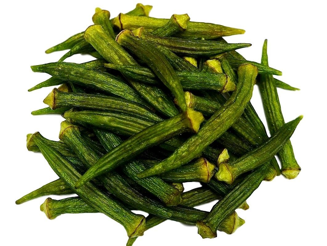 Okra Chips, Sea-Salted, No Color Added, No Sugar Added, Natural, Delicious And Healthy, Bulk Chips!!! (Okra Chips, 2 LBS) by NUTS - U.S. - HEALTH IN EVERY BITE !