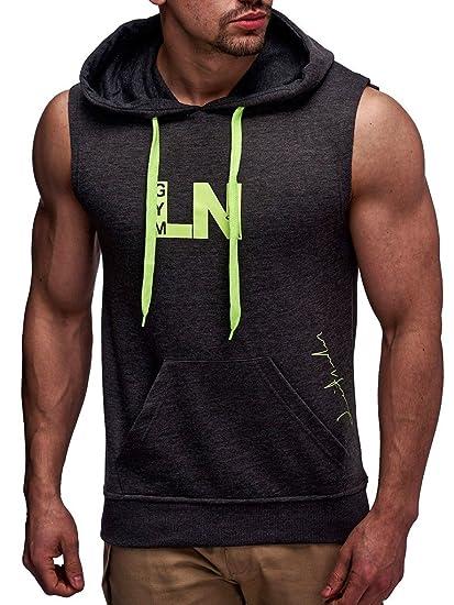 4e927907e62 LEIF NELSON Gym pour des Hommes Fitness T-Shirt Hoodie Chemise  d entraînement LN06260