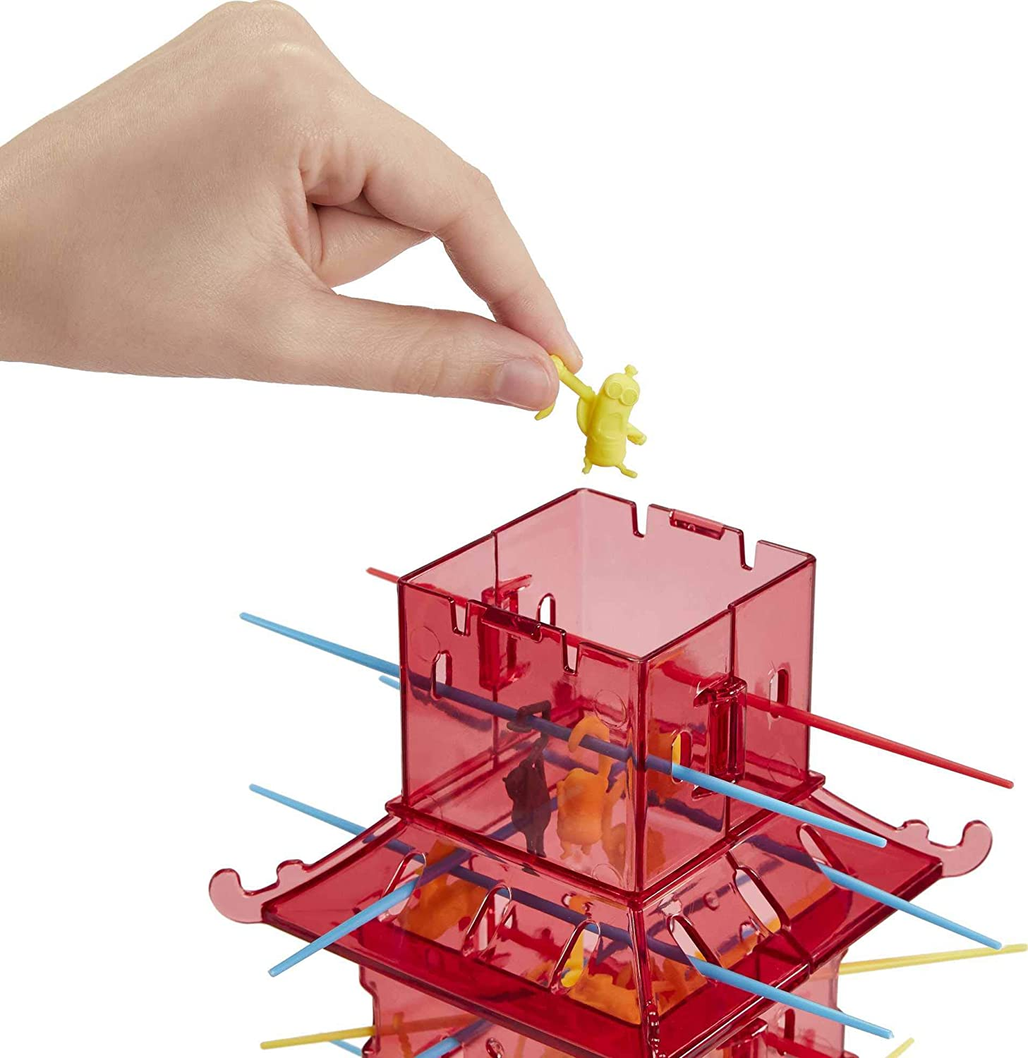 The Rise of Gru with Minions Game Pieces and Pagoda Tower Gift for 5 Year Olds and Up Minions Kerplunk Kids Game Featuring Illuminations Minions